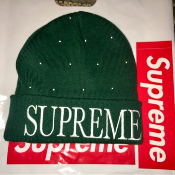 5c7198ee7d6 Supreme🎄Studded Beanie🎄Green- UNISEX